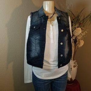 😍 Great Used Condition Vanity Jean's Vest